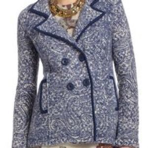 Angel of the North Wool Blue Sweater Jacket MED